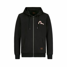 Evisu Zip-up Hoodie With Graffiti Seagull Print