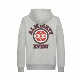 Evisu Hooded Sweatshirt With Kamon Print