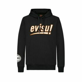 Evisu Hooded Sweatshirt With Logo And Kamon Print