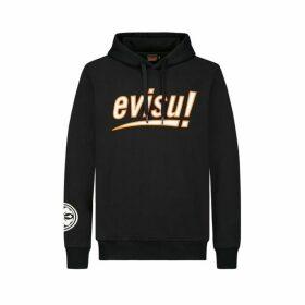Evisu Hooded Sweatshirt With Logo And Kamon Print