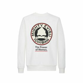 Evisu Sweatshirt With Godhead Badge Embroidery And Print