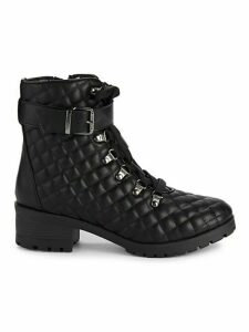 Akleandra Quilted Combat Boots