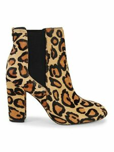 Case Leopard-Print Calf Hair Chelsea Boots