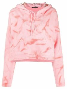 Htc Los Angeles cropped tie-dye hoodie - PINK