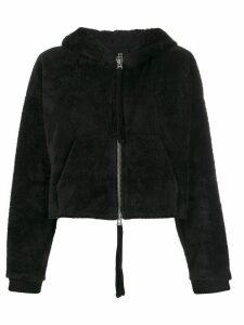 Thom Krom cropped long-sleeve hoodie - Black