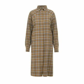 A-line Clothing - Check Overshirt With Pockets