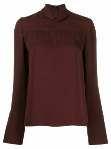 Joseph long-sleeved draped neck blouse - Red