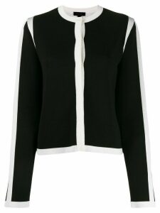 Escada long sleeved contrast-edge cardigan - Black