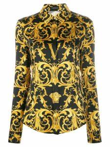 Versace Virtus Medusa Baroque print shirt - Black