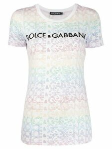 Dolce & Gabbana sequined logo T-shirt - White