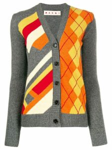 Marni graphic print cardigan - Grey