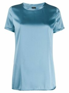 Pinko metallic side slit T-shirt - Blue
