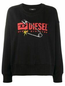 Diesel F-Magda crewneck sweatshirt - Black