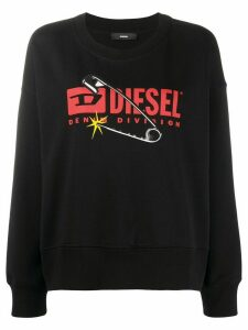 Diesel F-Magda crew neck sweatshirt - Black