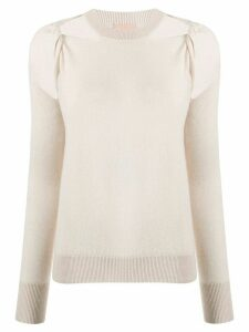 Nude cold-shoulder jumper - NEUTRALS