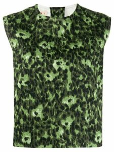 Marni abstract-print tank top - Green