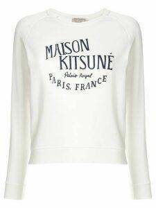 Maison Kitsuné logo print sweatshirt - White