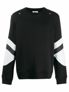 Zilver contrast panel sweatshirt - Black