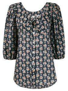 Liberty London floral-print 3/4 sleeves blouse - Black