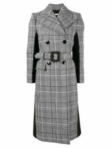 Givenchy check print double-breasted coat - Grey