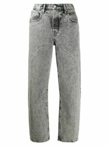 Alexander Wang high rise straight leg jeans - Black