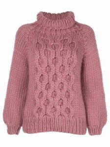 I Love Mr Mittens Honey comb-knit jumper - ROSE