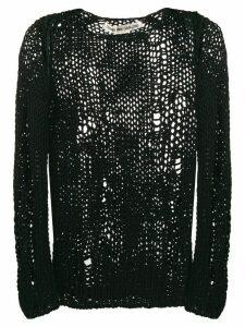 Comme Des Garçons open knit jumper - Black