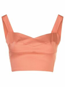 Silvia Tcherassi fitted cropped top - PINK