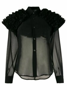 Comme Des Garçons Comme Des Garçons ruffled shoulder shirt - Black