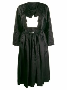 Comme Des Garçons cut-out quilted dress - Black
