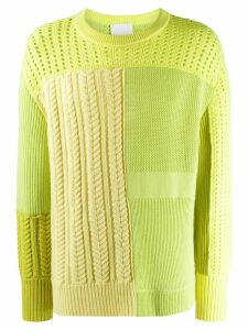 Koché patchwork knitted jumper - Green