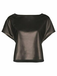 Skiim Wai boat-neck top - Black