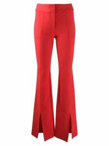 Derek Lam 10 Crosby Maeve Slit Hem Crosby Cotton Twill Flare Trousers