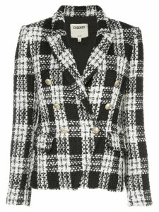 L'Agence Kenzie double-breasted tweed blazer - Black