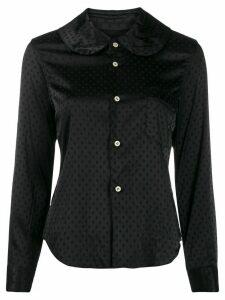 Comme Des Garçons Comme Des Garçons polka-dot pattern shirt - Black