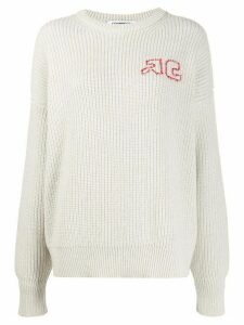 Courrèges ribbed jumper - NEUTRALS