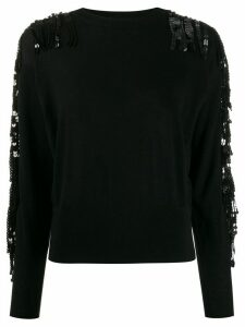 Nude sequin embellished jumper - Black