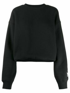 T By Alexander Wang oversized sleeve-logo sweatshirt - Black