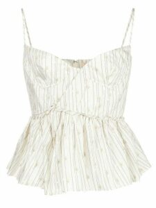 Brock Collection fitted corseted top - NEUTRALS
