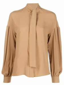 Pinko sash collar loose-fit blouse - NEUTRALS