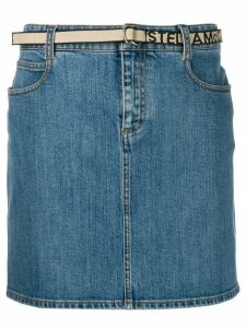 Stella McCartney belted denim skirt - Blue