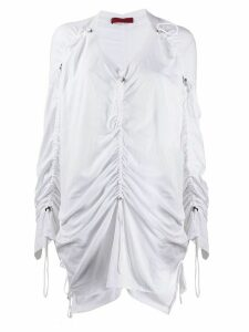 Di Liborio ruched toggle detail blouse - White