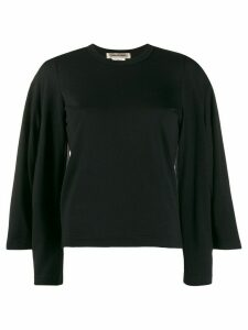 Comme Des Garçons knitted double sleeve top - Black