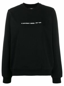 Diesel F-Ang-Copy Copyright logo sweatshirt - Black