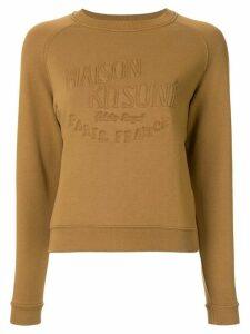 Maison Kitsuné embroidered logo sweatshirt - Brown