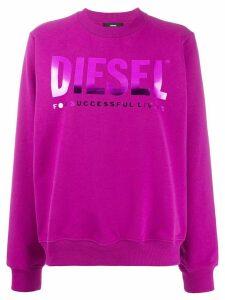 Diesel F-ang logo sweatshirt - Purple