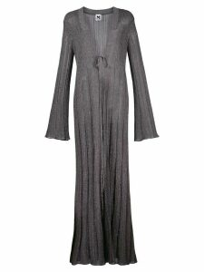 M Missoni knitted long-length cardigan - SILVER