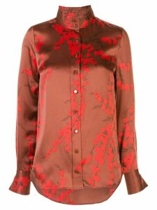 Equipment silk floral shirt - Red