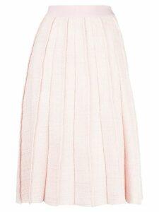 Giambattista Valli pleated tweed midi skirt - PINK