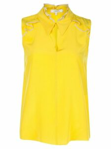 Dorothee Schumacher silk sleeveless ruffle blouse - Yellow